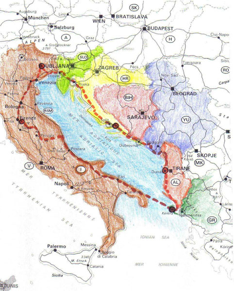 Cartina del Viaggio
